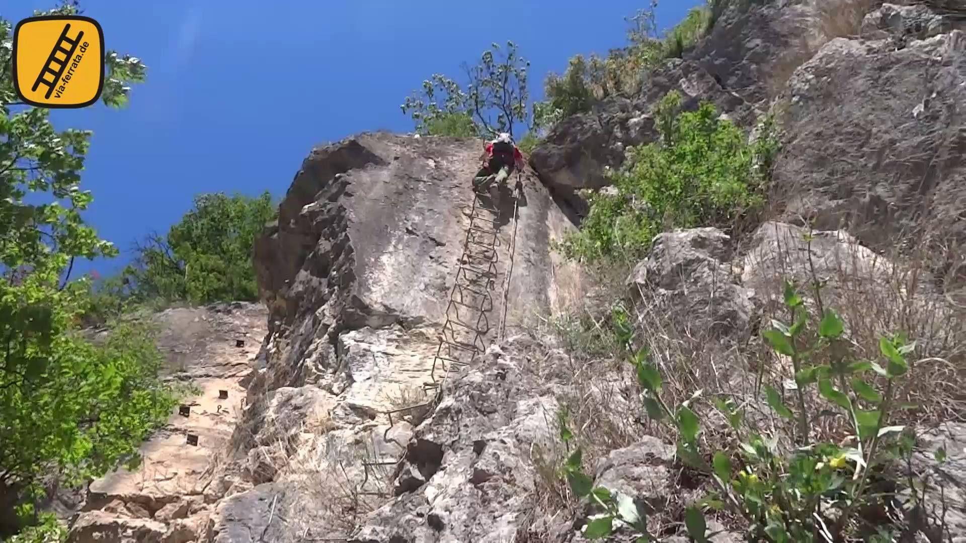 Klettersteige Gardasee : Via ferrata monte albano mori gardasee berge outdoor