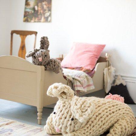 giant stuffed bunny arm knit-6579