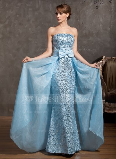Prom Dresses - $159.99 - Sheath Strapless Floor-Length Organza Satin Prom Dress With Sequins (018014879) http://jenjenhouse.com/Sheath-Strapless-Floor-Length-Organza-Satin-Prom-Dress-With-Sequins-018014879-g14879