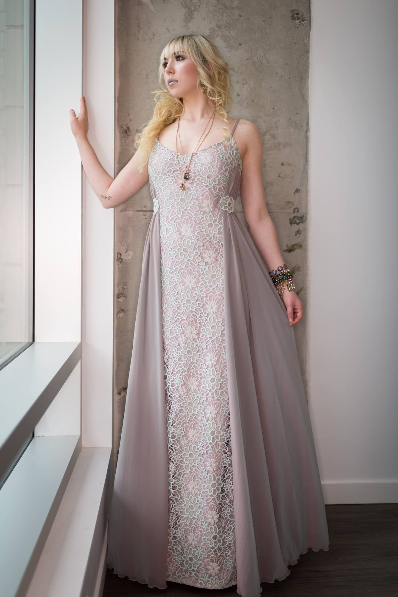 Solstiss lace chiffon degrade collection evening gowns
