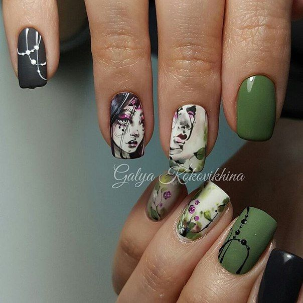 Маникюр | Видеоуроки | Art Simple Nail | uñas con flores | Pinterest ...