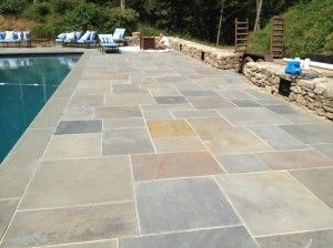 natural stone pool deck installation - ucms inc. philadelphia