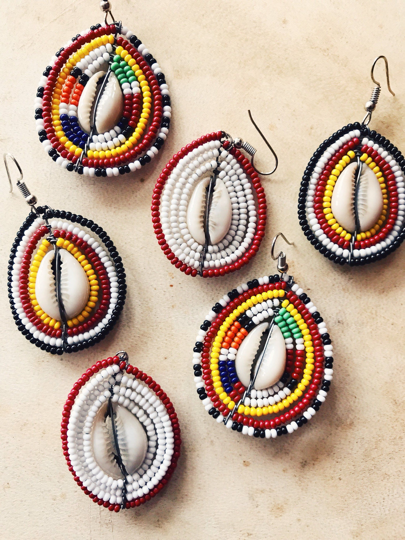 African Kenya Masai Beads Earrings