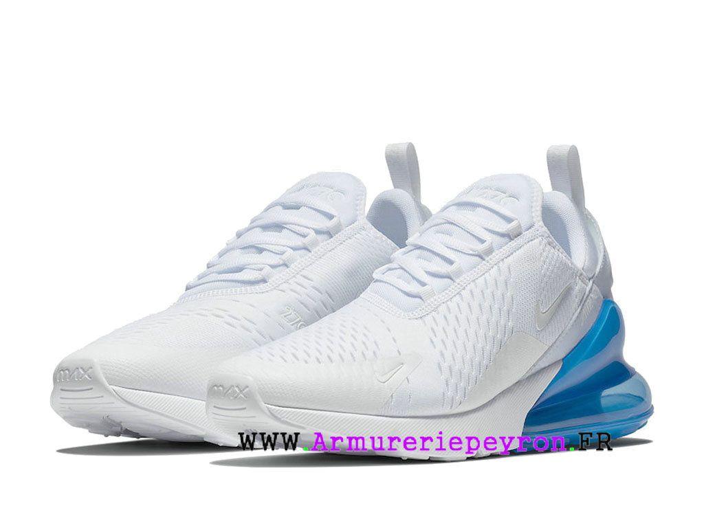 fashion styles free shipping sleek Bleu blanc Nike Air Max 270 Chaussure de course Pas Cher Prix ...
