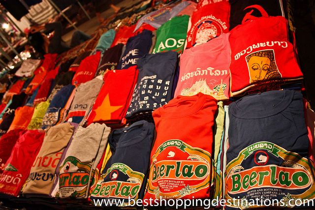 Beer Lao T-shirts are a winner for the boys. | Laos, Luang prabang, Vietnam