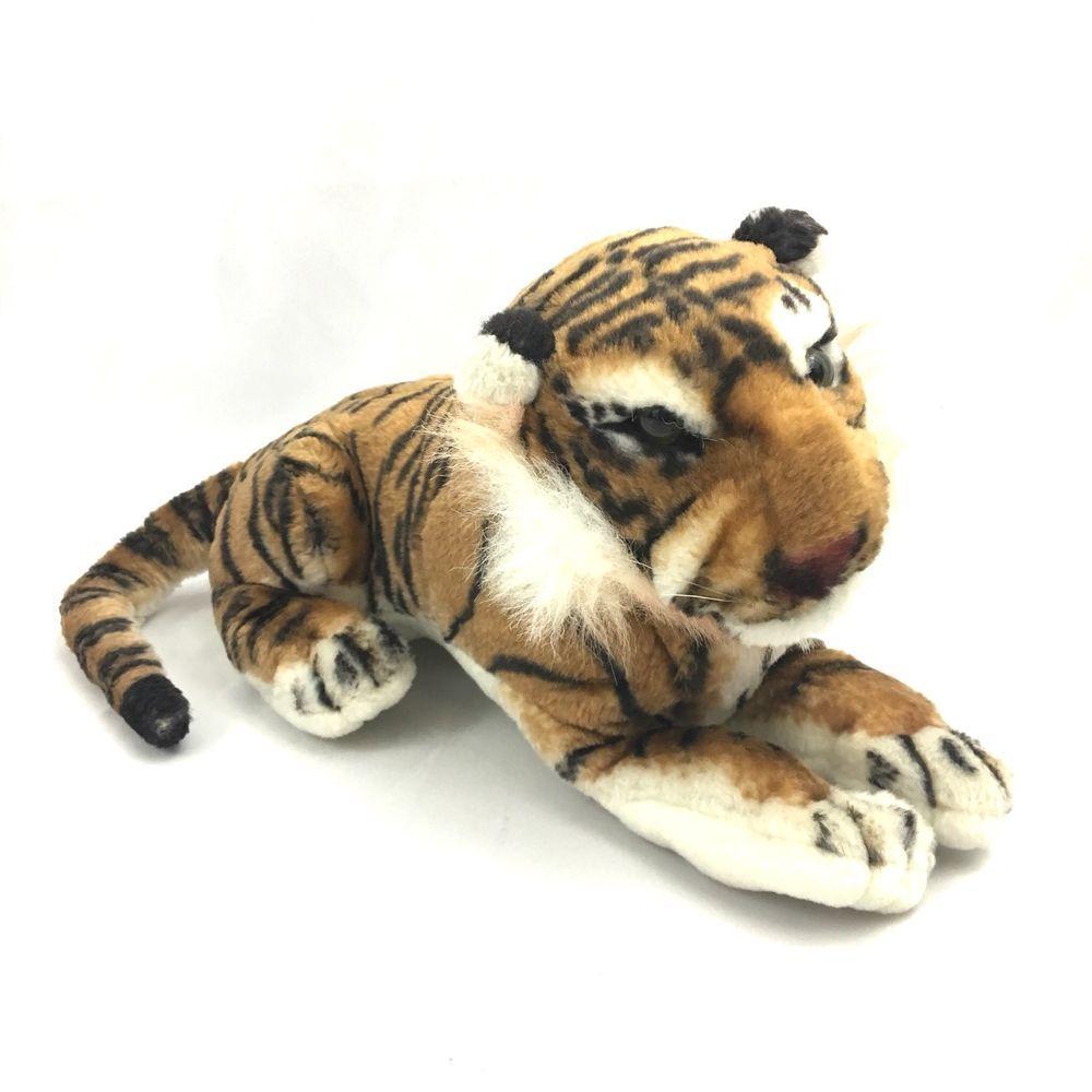 Realistic Tiger Plush Stuffed Animal Small Real Looking