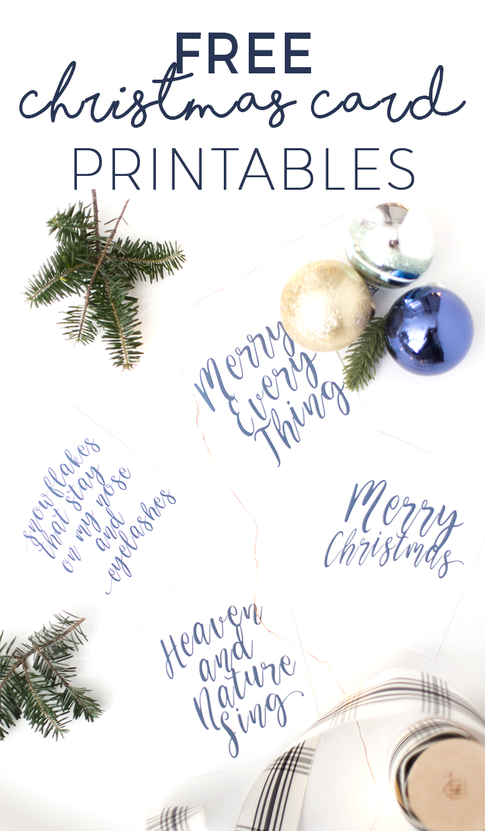 free printable christmas cards these are so chic freeprintables christmascards christmasdecorating via chelseacoulston