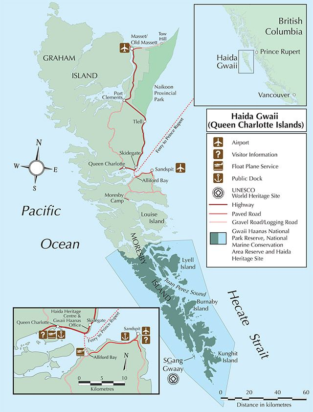 Map of Haida Gwaii | Haida Gwaii | Haida gwaii, Parks ...