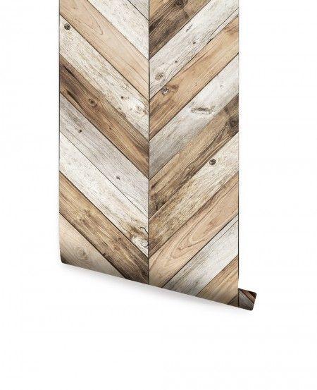 Chevron Wood Wall Art Simpleshapes Herringbone Wallpaper Wood Wallpaper Wood Plank Wallpaper