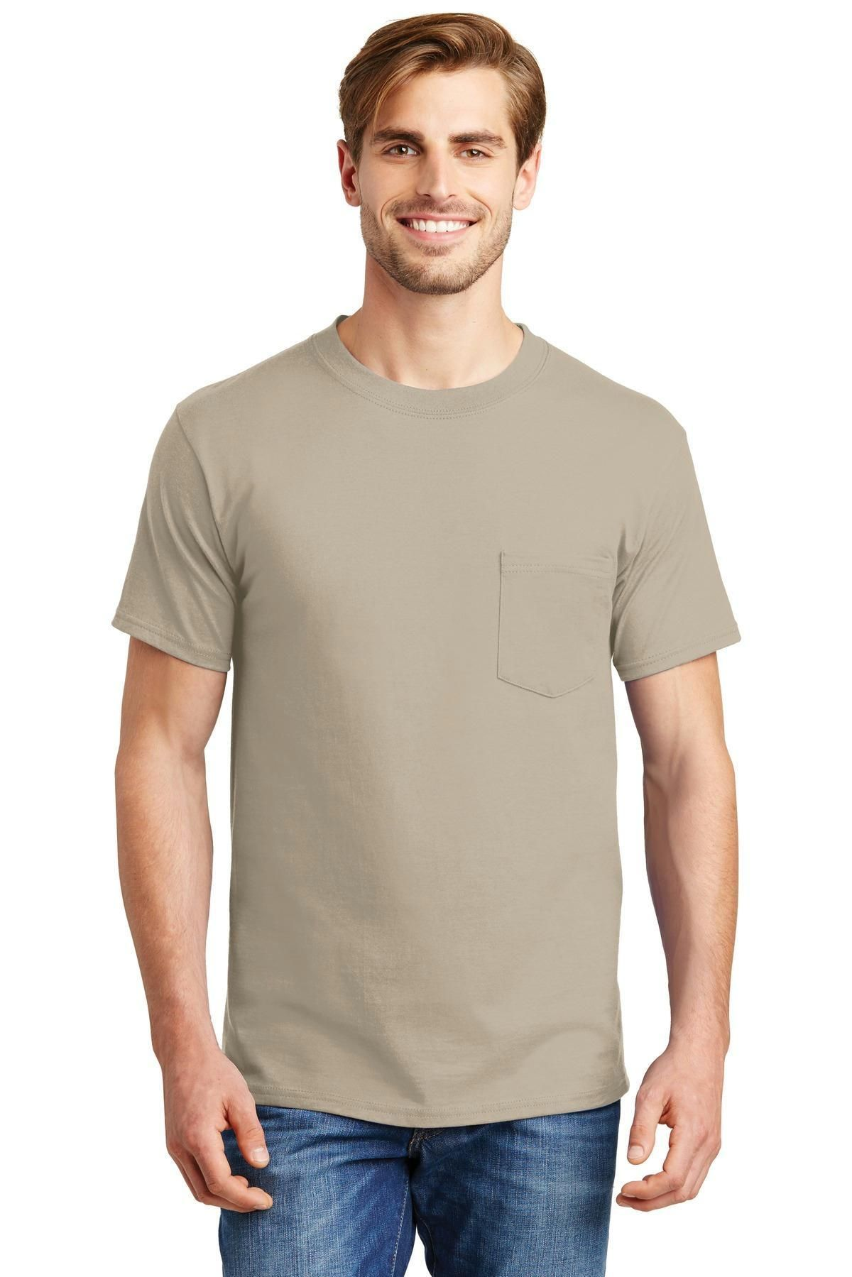 3b82b4f749d1d6 Hanes Beefy-T - 100% Cotton T-Shirt with Pocket 5190 | Products ...