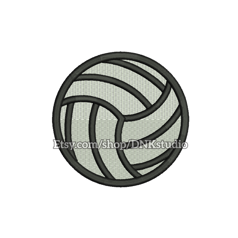 Volleyball Embroidery Design 5 Sizes Instant Download Etsy Embroidery Designs Applique Embroidery Designs Instant Download Etsy