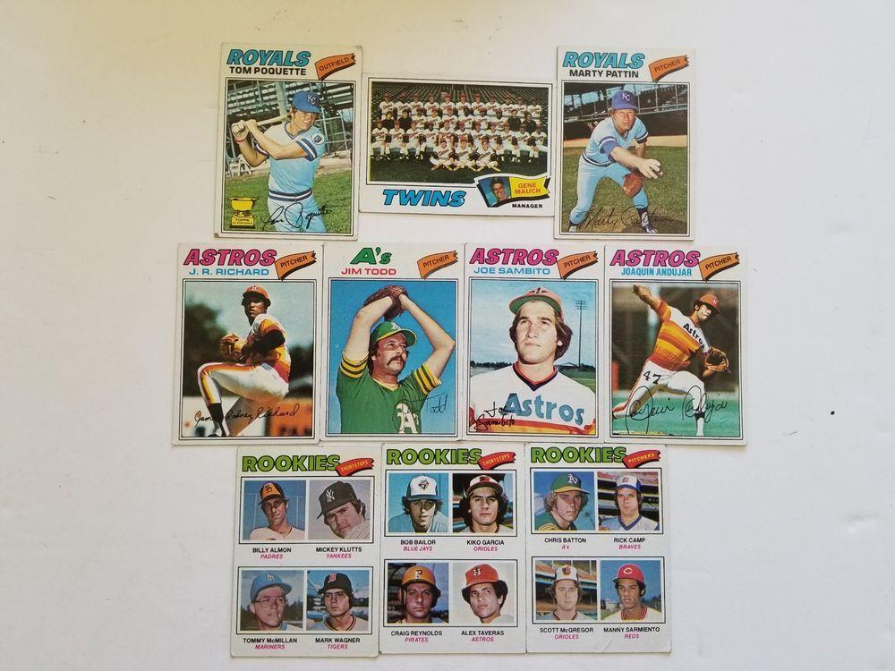 1977 topps baseball lot of 10 baseball my ebay ebay