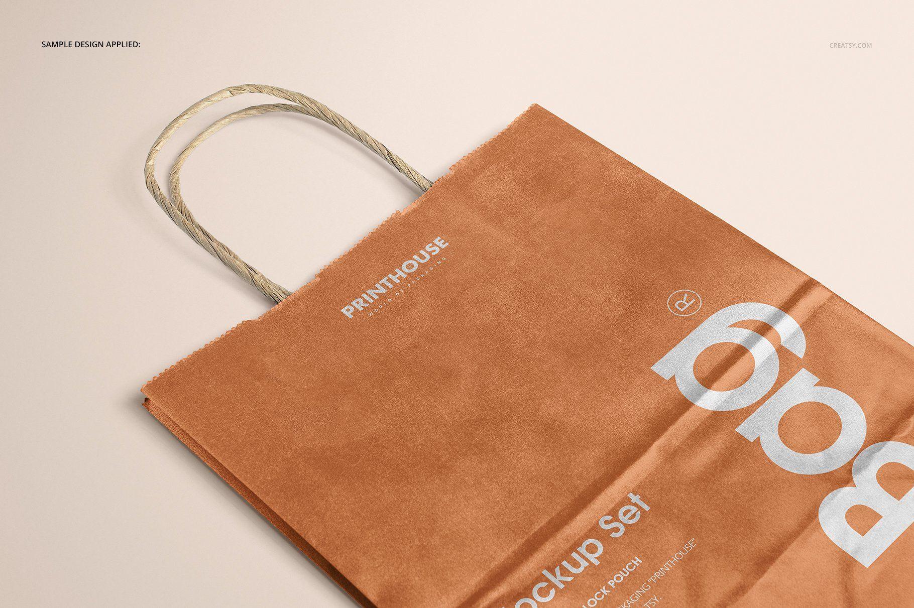 Download Metallic Kraft Paper Bag Mockup Set Bag Mockup Paper Bag Design Bags