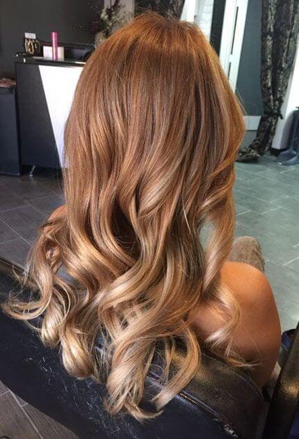 Bal Köpüğü Saç Rengi #caramelbalayage
