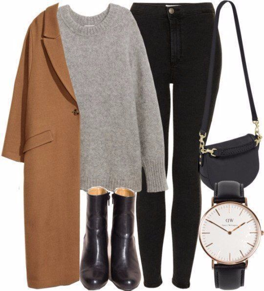 Beige coat, black pants, black boot outfit – Marry Ko.