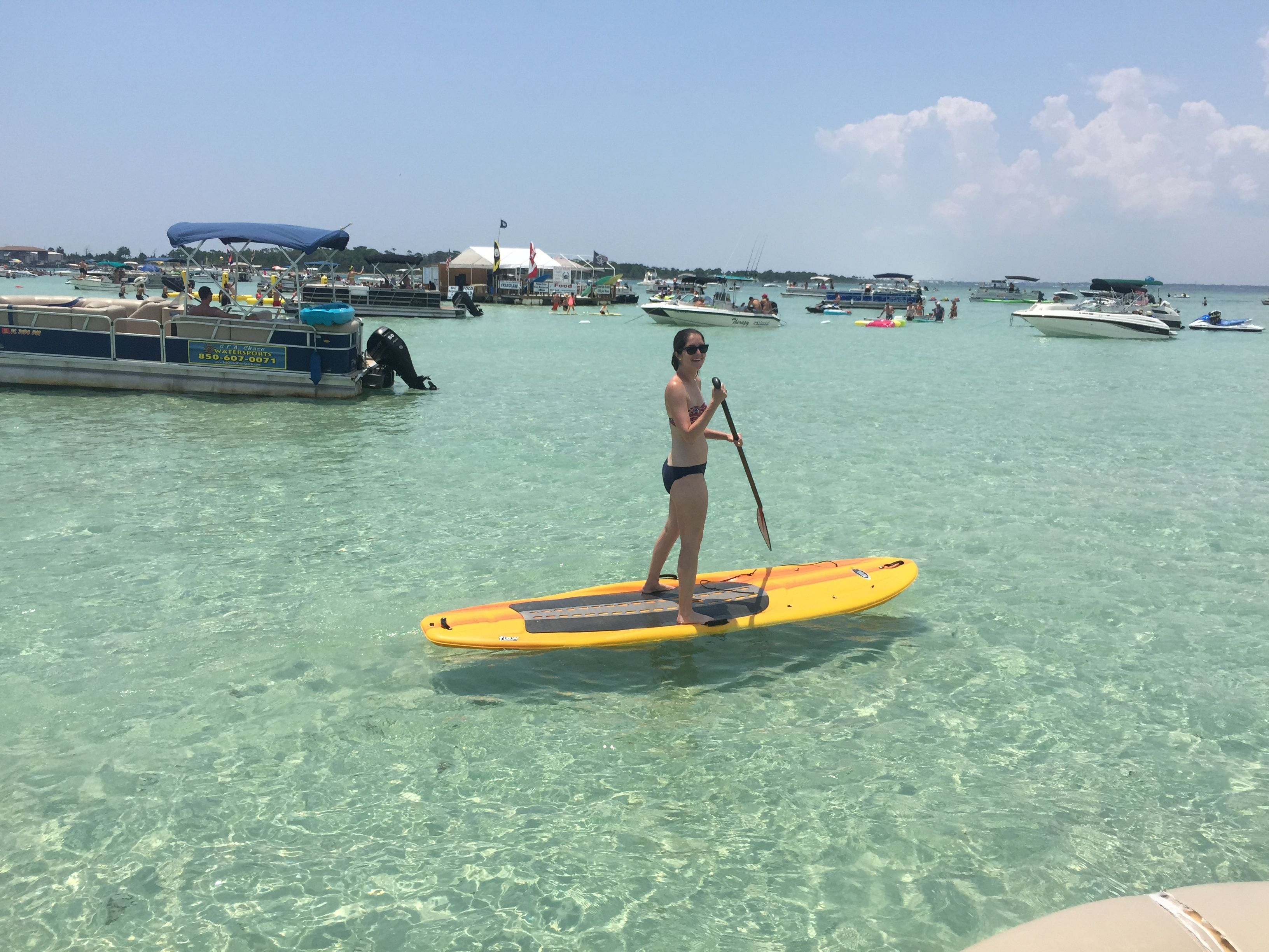 Small Groups Can Get To Crab Island On Paddleboard If You Are