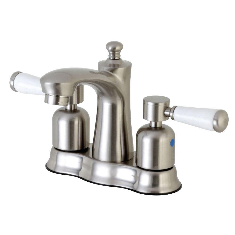 Kingston Brass Fb7618dpl 4 In Centerset Bathroom Faucet Brushed Nickel Kingston Brass Kingston Brass Bathroom Faucets Faucet