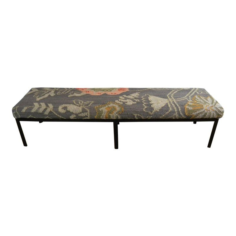 Prime Modern Kilim Metal Bench In 2019 Vintage Bench Antique Gmtry Best Dining Table And Chair Ideas Images Gmtryco