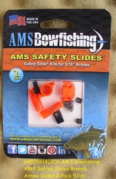Ams Bowfishing Ams Saftey Slides Brands Arrow Slides 2 Pack 5 16