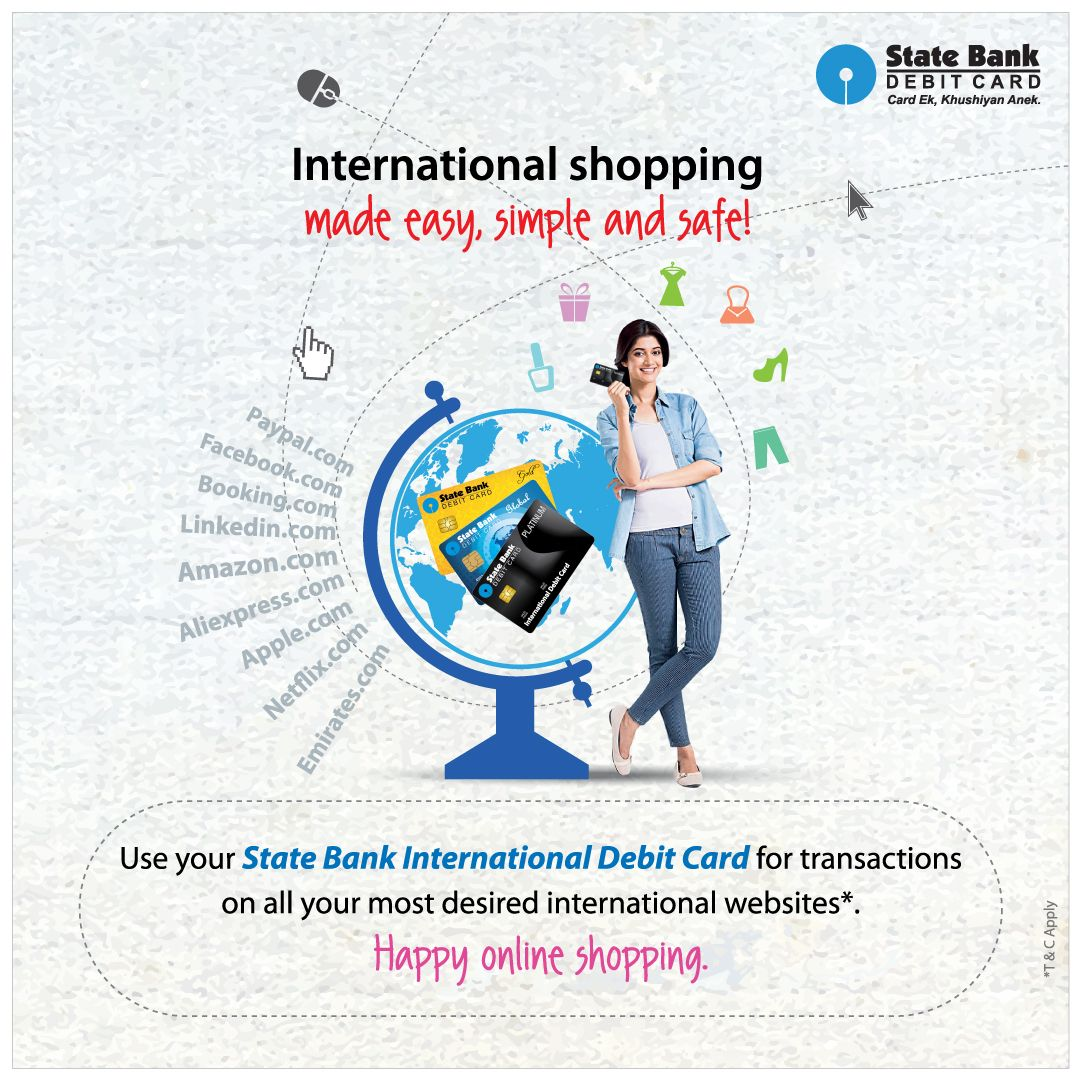 Now shopping on international websites with State Bank