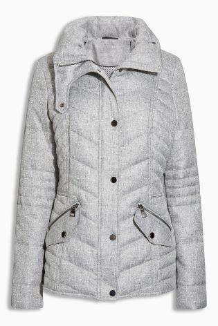 Buy Grey Short Padded Jacket - 358-830 | Next UK | Wardrobe must ...