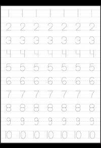 Number Tracing – 4 Worksheets | Homeschool | Pinterest | Number ...