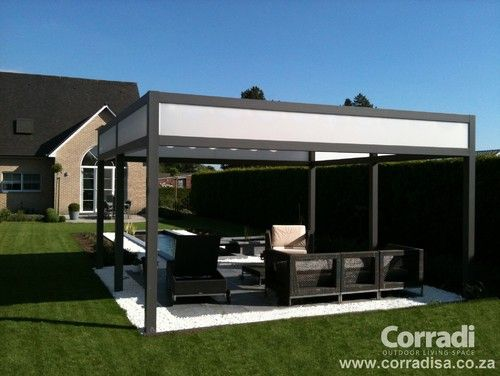 Pergotenda  Patio Awnings With Retractable Roofs By Corradi Contemporary  Gazebos