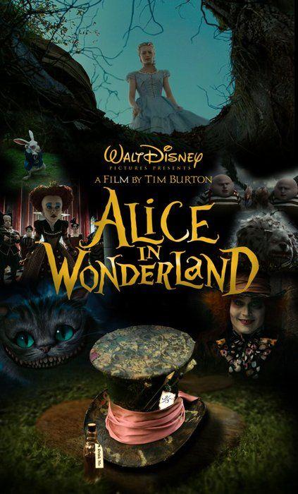 Alice In Wonderland 2010 By Tim Burton Starring Johnny Depp Alice In Wonderland Poster Alice In Wonderland Wonderland