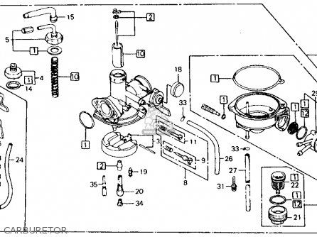 honda ct110 trail 110 1986 usa carburetor