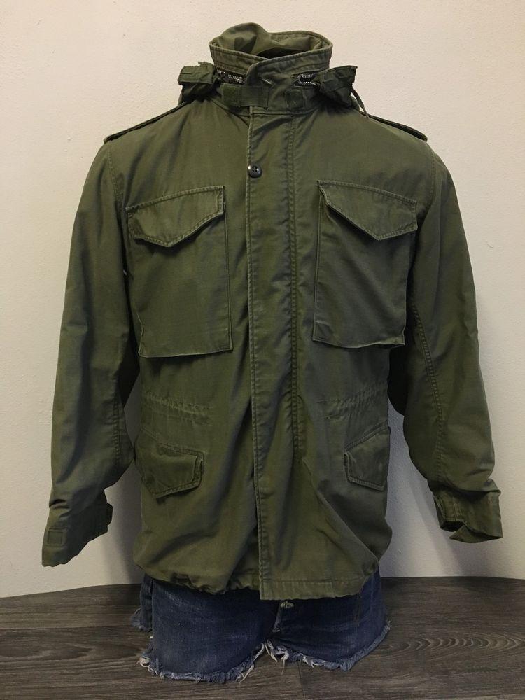 Vietnam M65 Cold Weather Coat Vintage 70s Field Man s Jacket Hood Army USA   Army  fieldjacket  general  vietnam  hood  fashion  military 2171089d2
