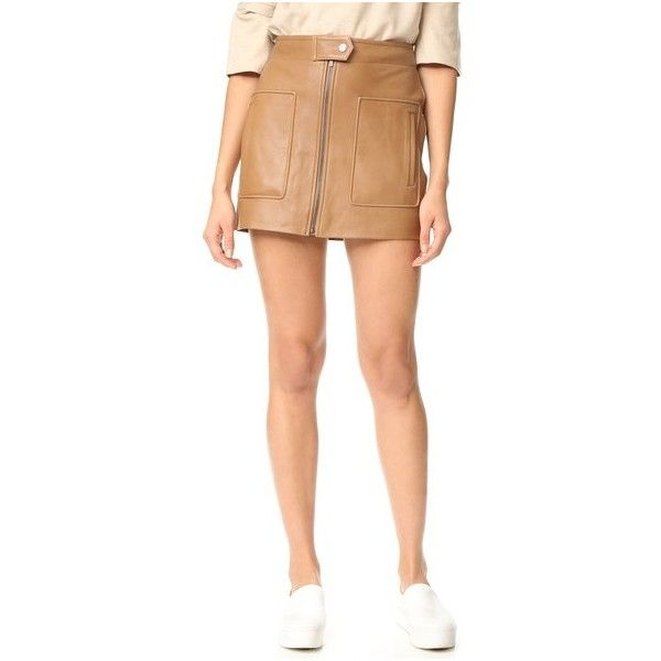 Helmut Lang Chintz Leather Miniskirt (973 AUD) ❤ liked on ...