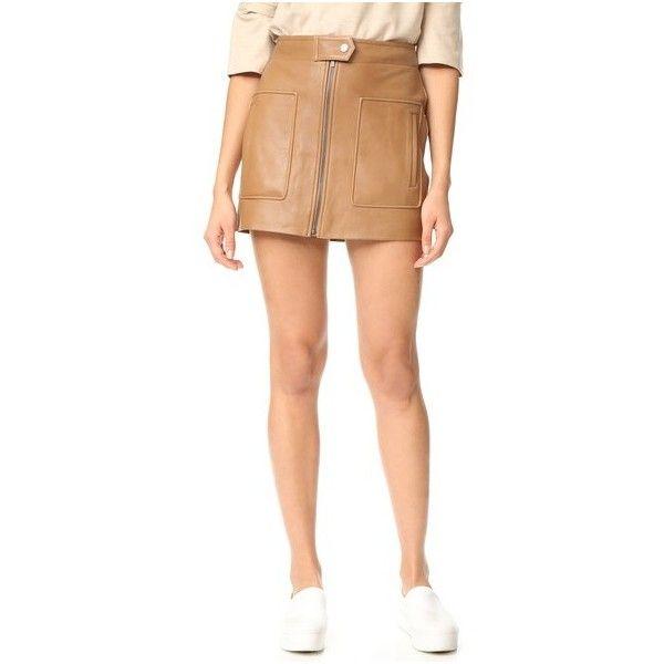 Helmut Lang Chintz Leather Miniskirt (973 AUD) ❤ liked on ...