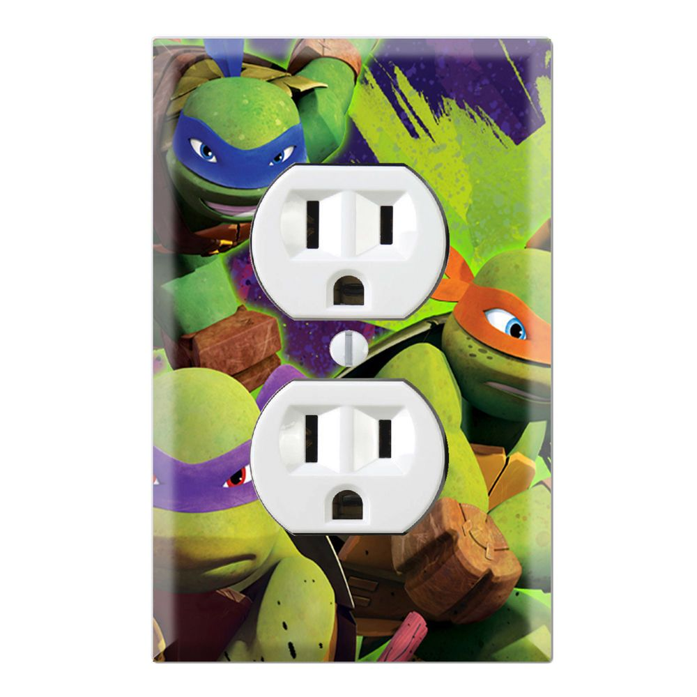 Ninja turtles decorative duplex receptacle outlet wall plate cover