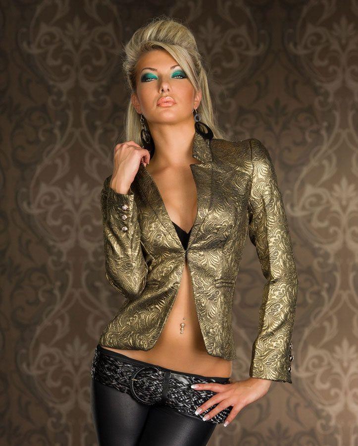 blazer veste baroque or tendance femme par. Black Bedroom Furniture Sets. Home Design Ideas