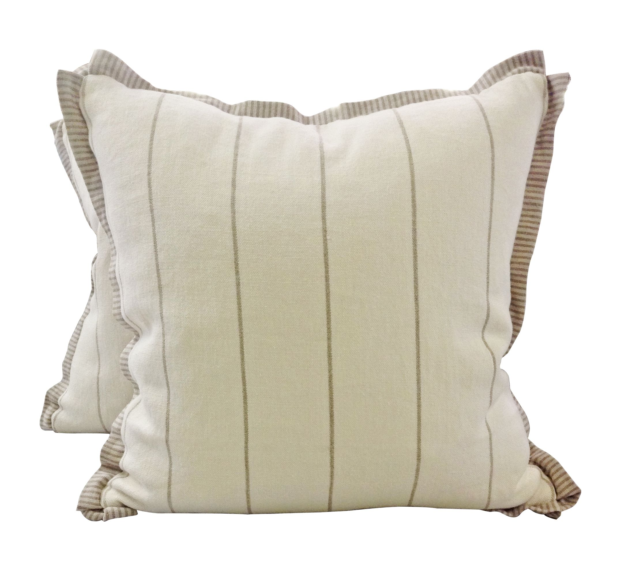 We Love This Stripe On Stripe Pillow The Main Fabric Is Westport - Soft decorative pillows