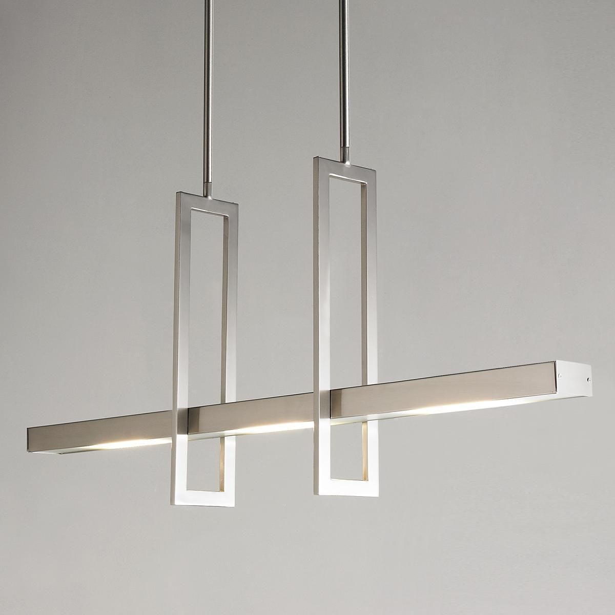 usona lighting. Energy Efficient Modern Balance Beam LED Island Chandelier Usona Lighting H