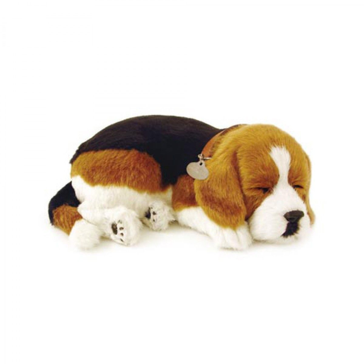 Perfect Petzzz Huggable Breathing Sleeping Plush Puppy Dog Pet Beagle Dog Stuffed Animal Pets Beagle Dog