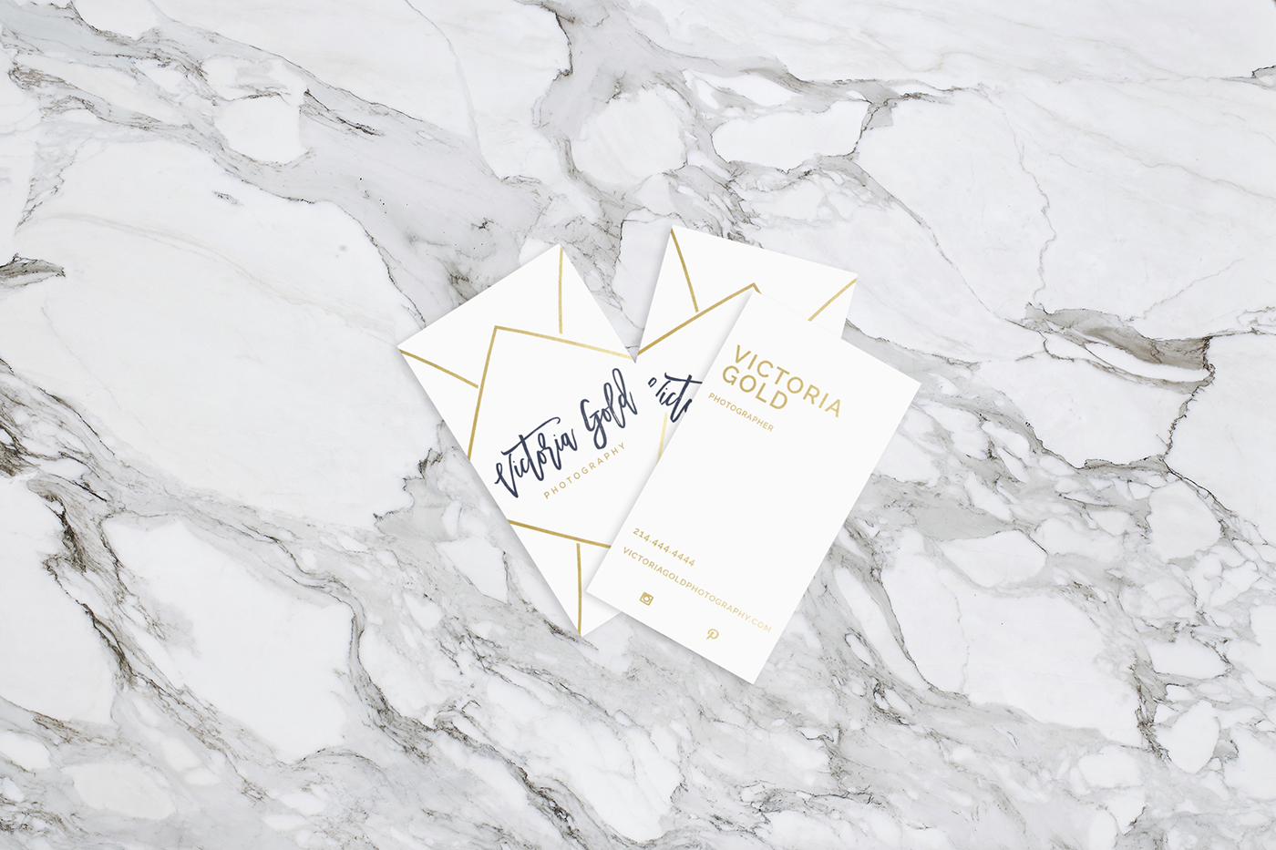 Victoria Gold Photography Business Cards on Behance