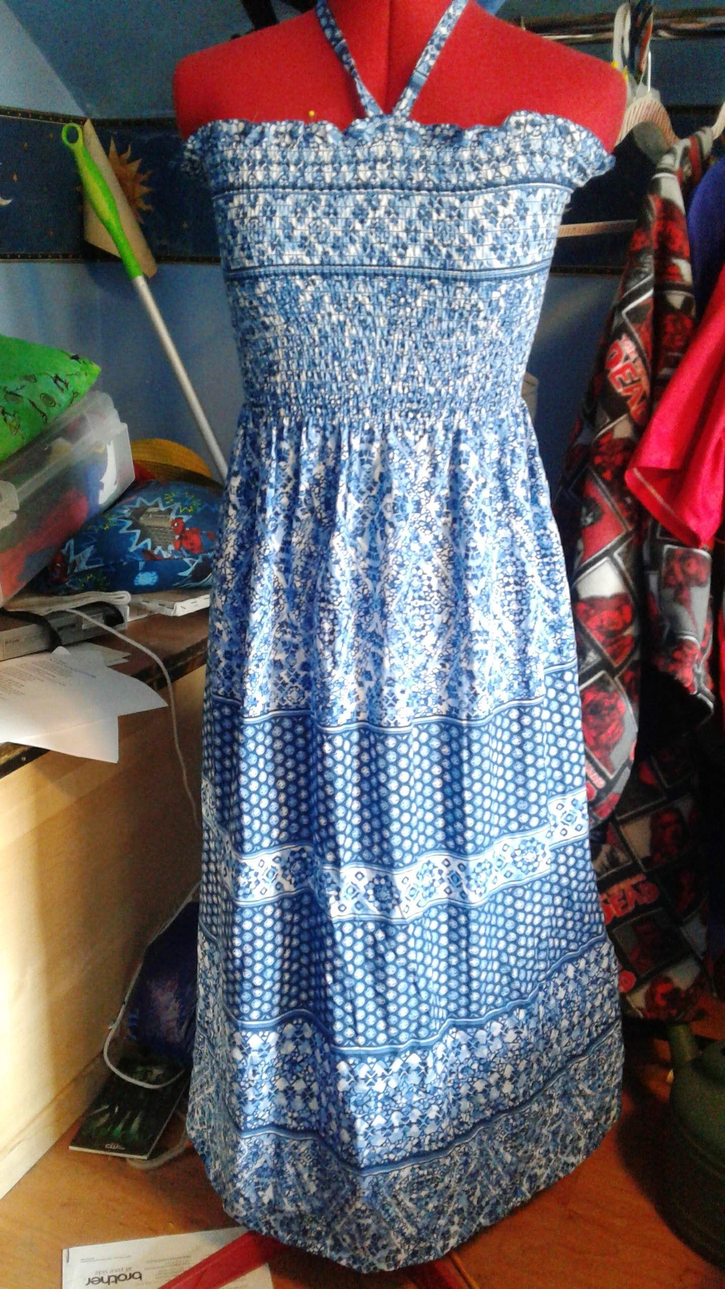 Pre Shirred Elasticized Cotton Fabric Sun Dress Fashion Cotton Fabric Summer Dresses [ 2560 x 1440 Pixel ]