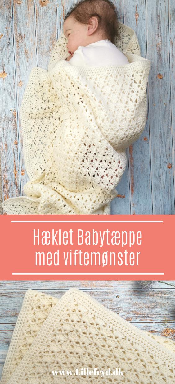 Hæklet Babytæppe med viftemønster
