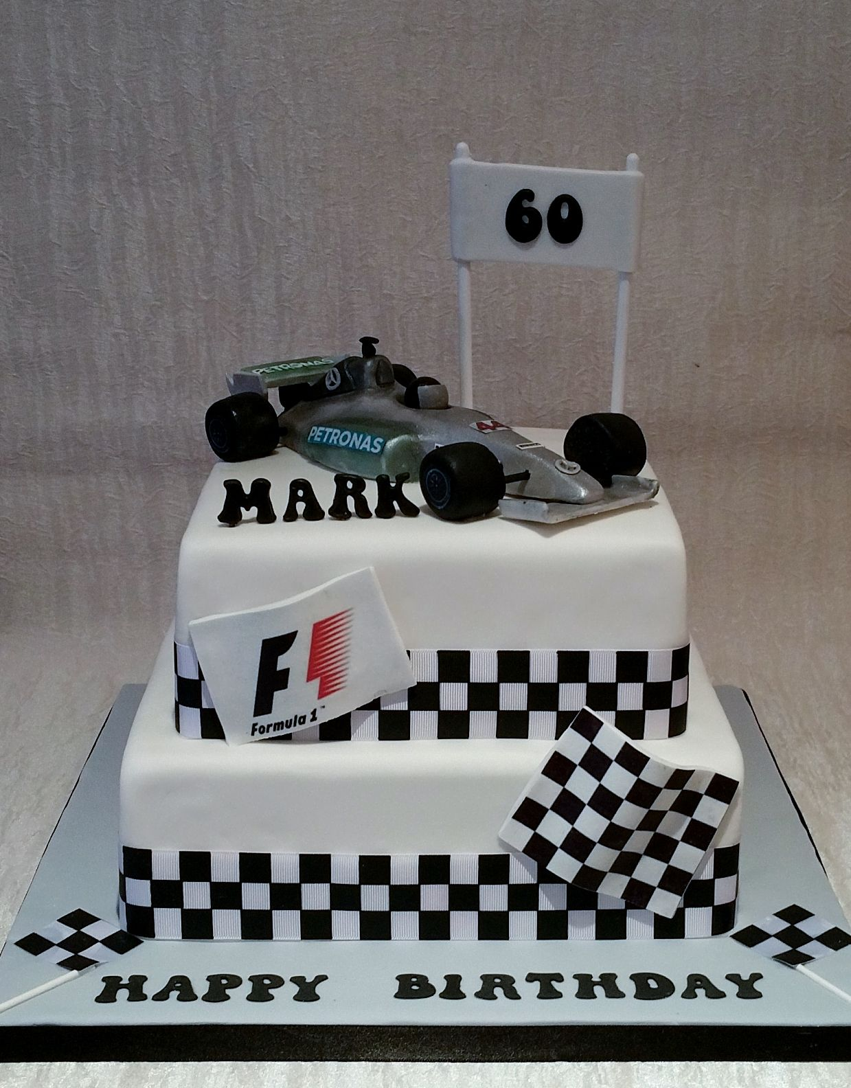 Grand prix themed cake for 60th birthday edible handmade for Motorbike template for cake