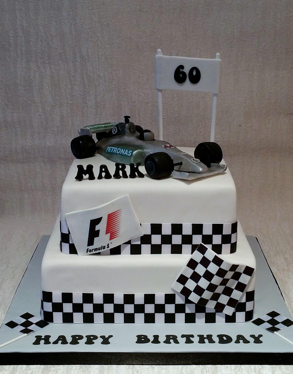 Grand Prix Themed Cake For 60th Birthday Edible Handmade