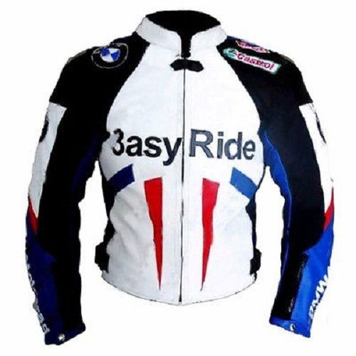 Mens BMW Motorbike Leather Jacket Racing Motorcycle Leather Jacket ALL-SIZE