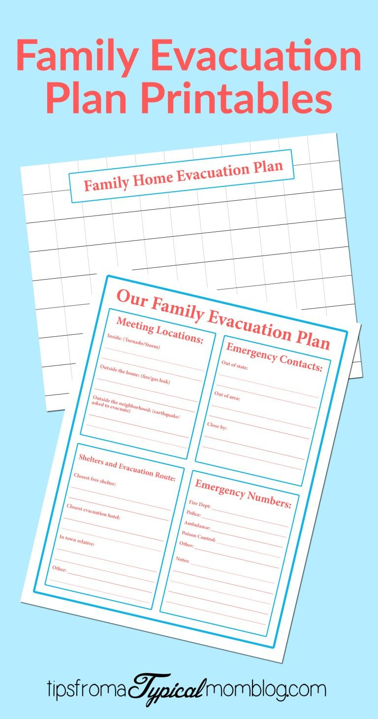 Family Emergency Evacuation Printables Free Preparedness Printable Bundle Tips From A Typical Mom Family Emergency Plan Emergency Evacuation Plan Family Emergency