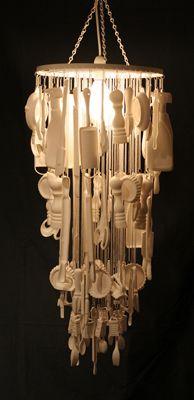Ceramic chandelier a wee bit of light relief installation art ceramic chandelier a wee bit of light relief aloadofball Images