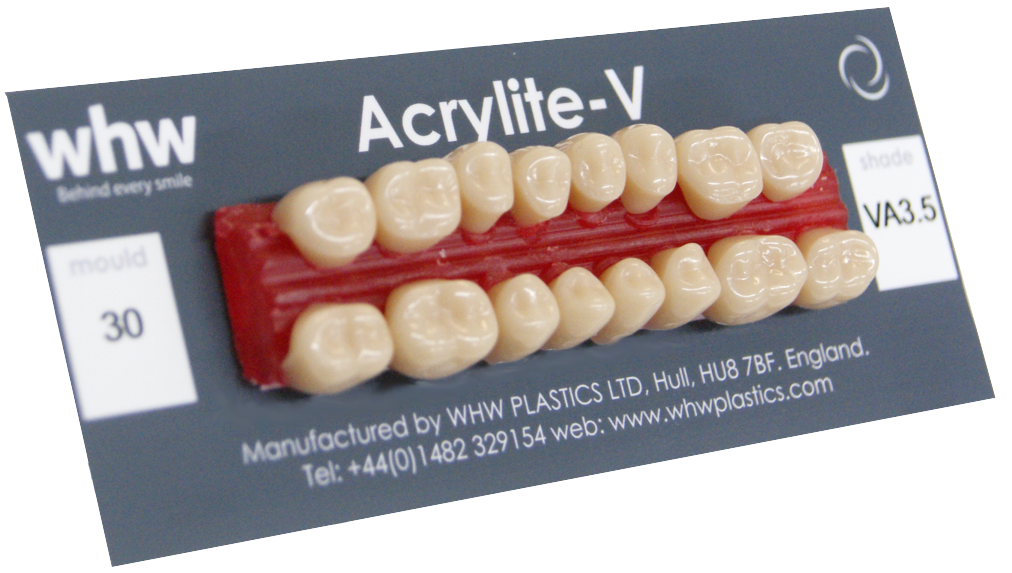 Acrylite V teeth made by us in Hull, UK