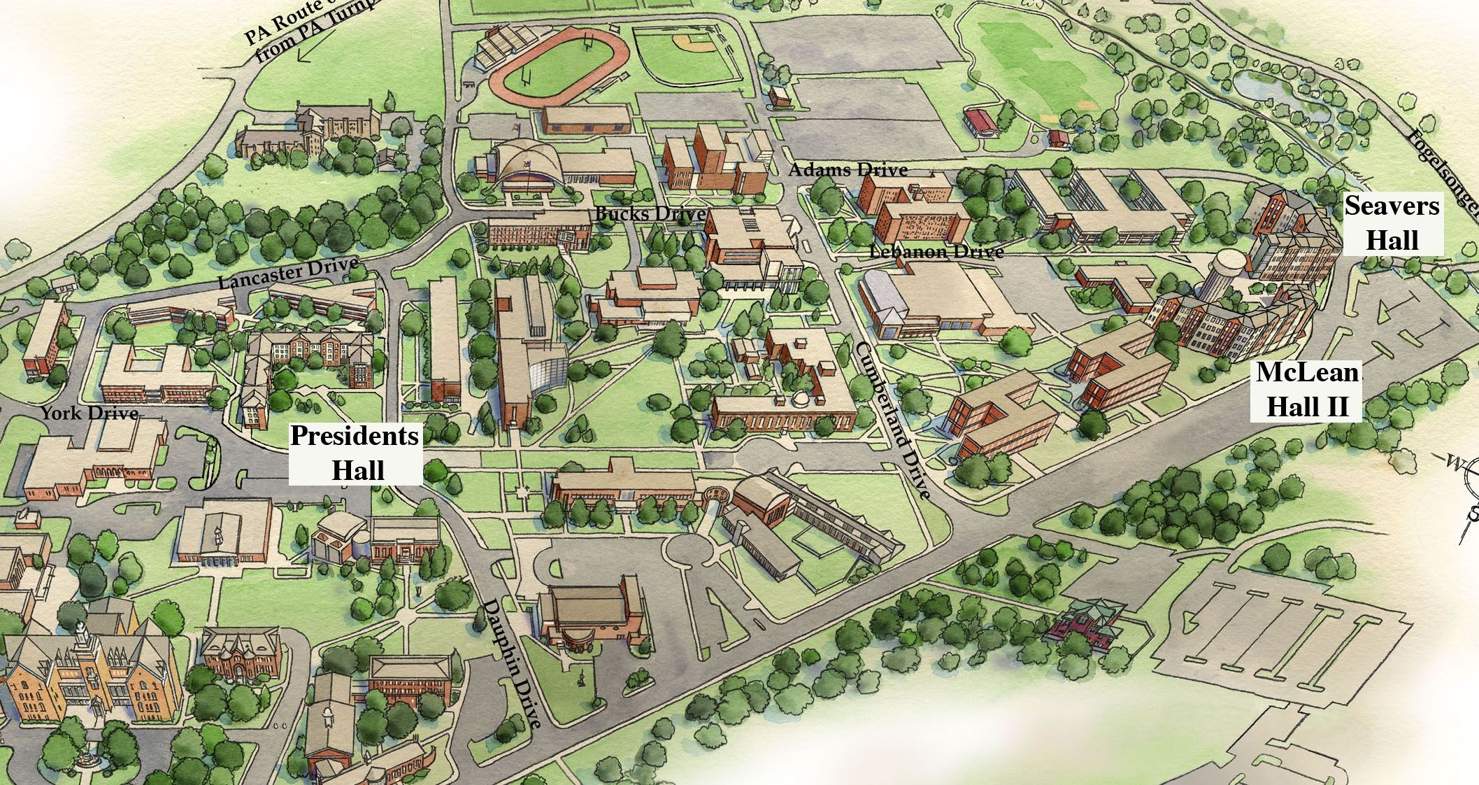 Susquehanna Campus Map.Shippensburg University Residence Halls Explore Campus Pinterest