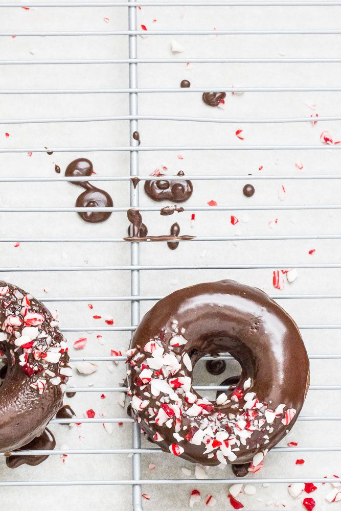 Peppermint mocha donuts are chocolaty with a hit of mint — just like your favorite holiday drink! They're perfect for Christmas morning.