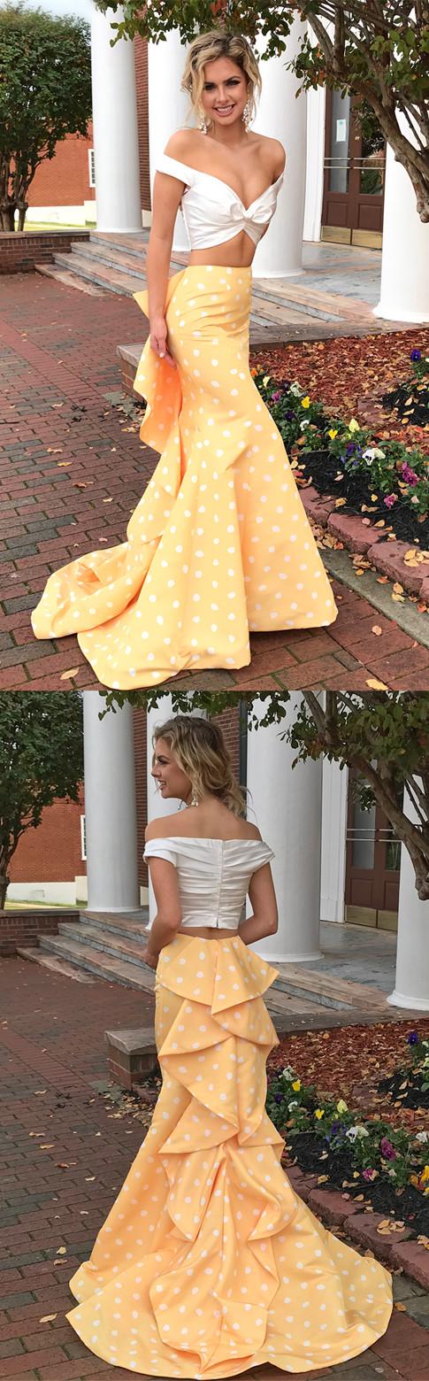 Dots Prom Dress 2018