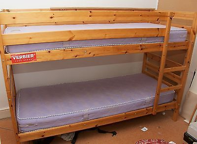 IKEA wooden bunk beds (can be used as 2 singles) with mattresses https://t.co/KNQXXdWCrI https://t.co/4dQZjTq5XD